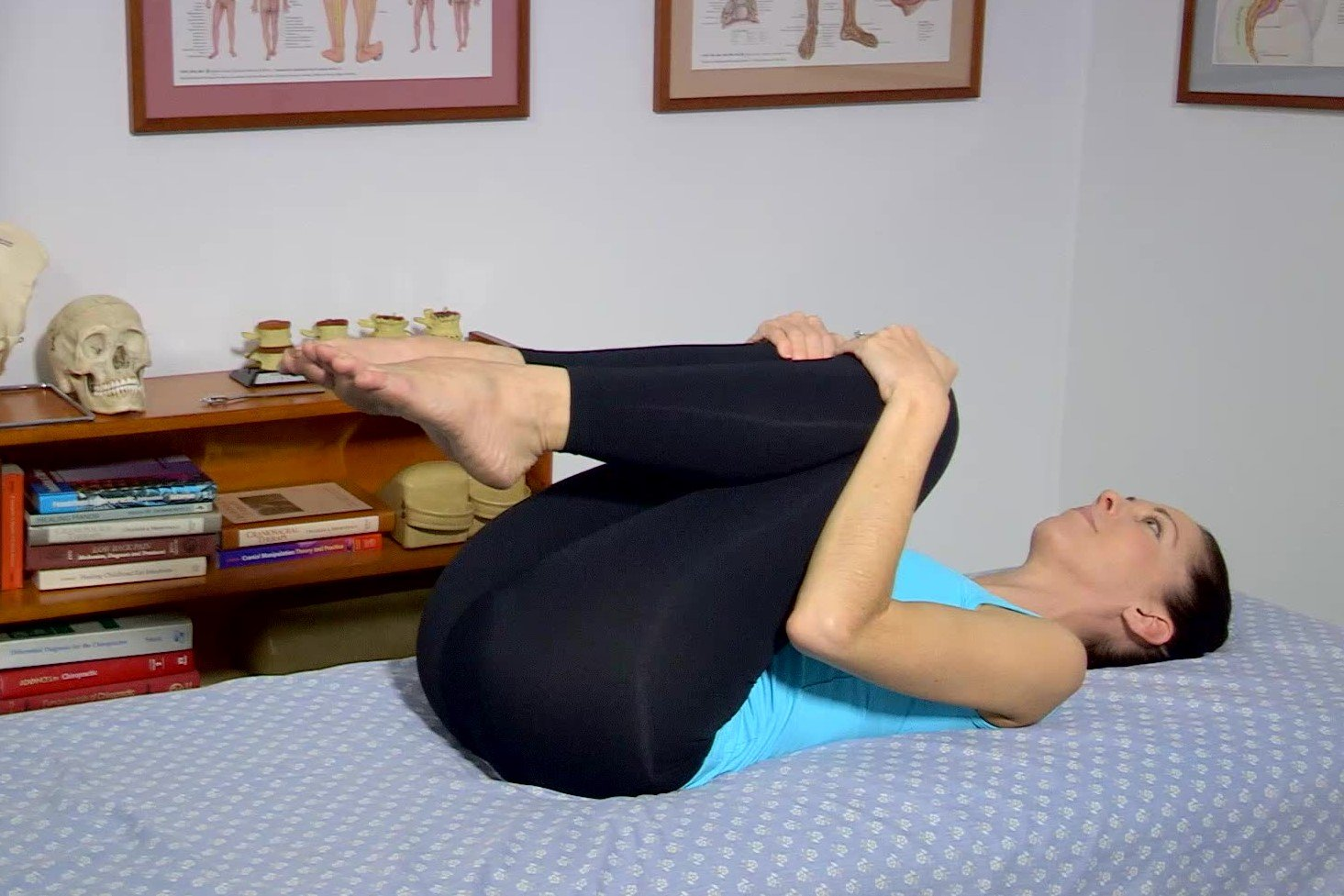 Low Back Flexibility Exercise Knees to Chest