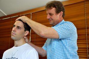 Townsville-Chiropractor-neck examination