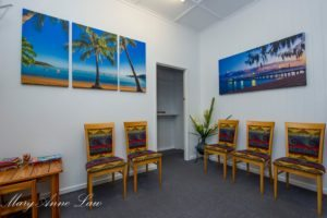 Townsville Chiropractor reception room